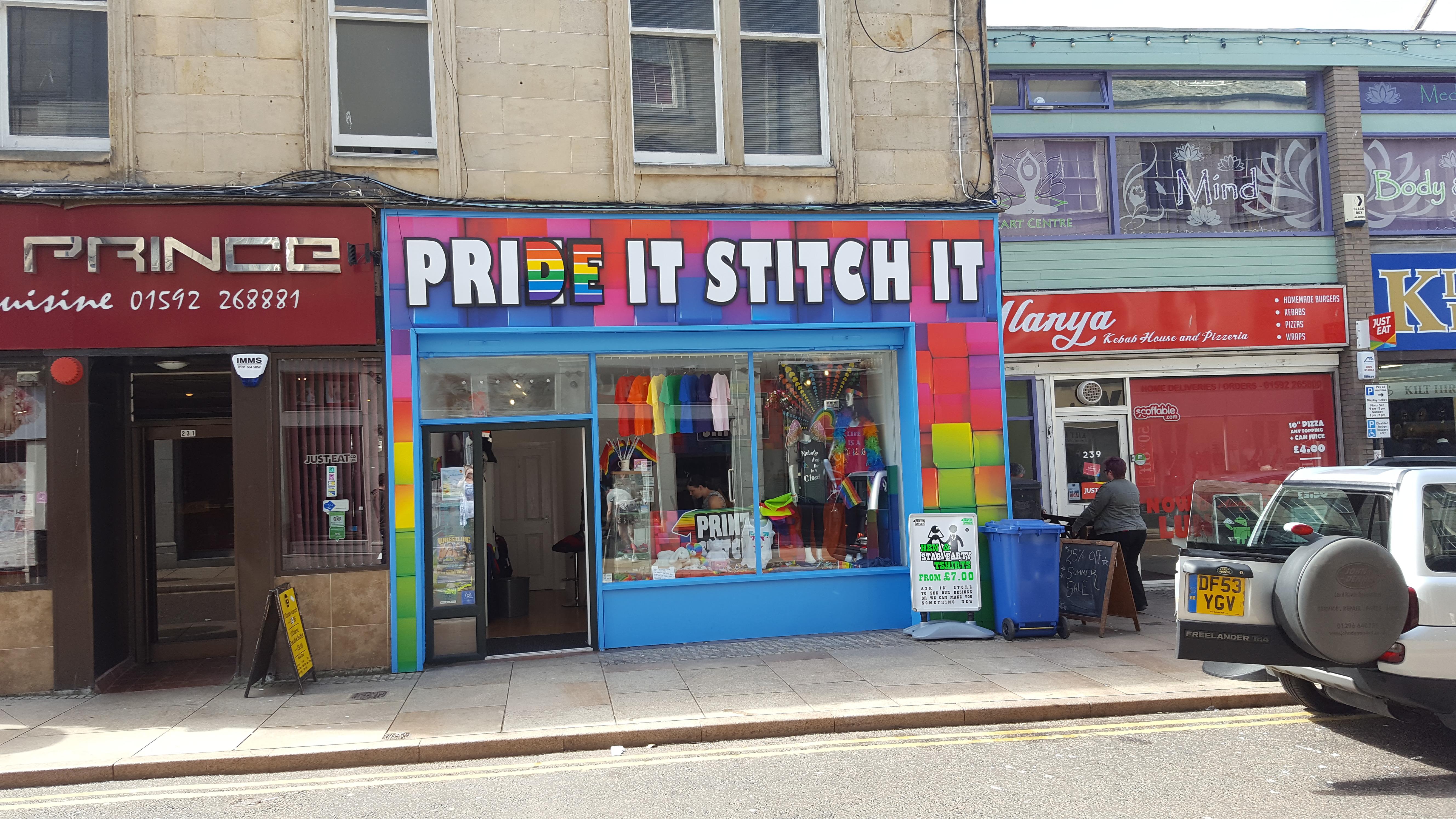 Pride It Stitch It Shop Front