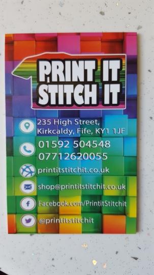 Print It Stitch It Business Card