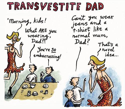 transvestite dad